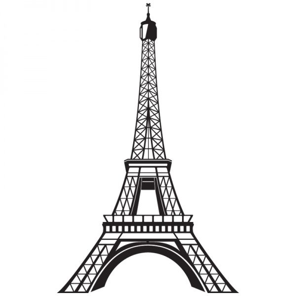 Coloriage Tour Eiffel A Colorier Dessin A Imprimer Paris Deco