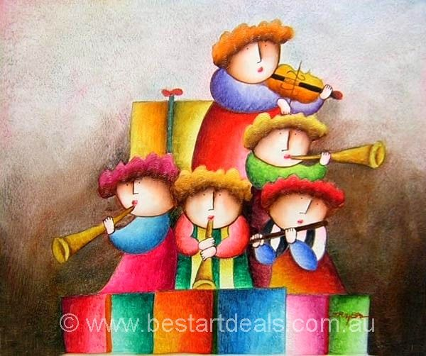 Musical Children Oil Painting. http://bestartdeals.com.au