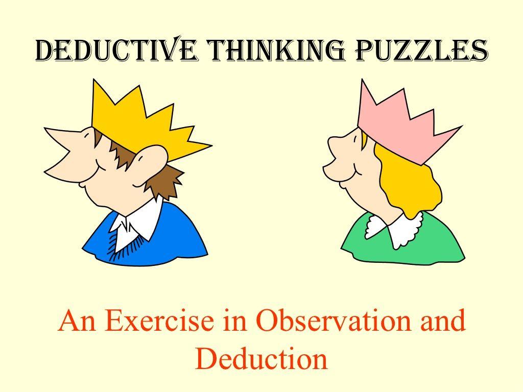 12 Deductive Thinking Puzzles By Bro Oh Teik Bin Via