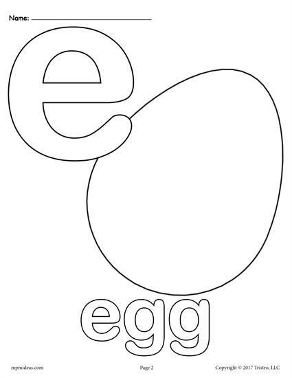 Letter E Alphabet Coloring Pages - 3 FREE Printable Versions! | Free ...