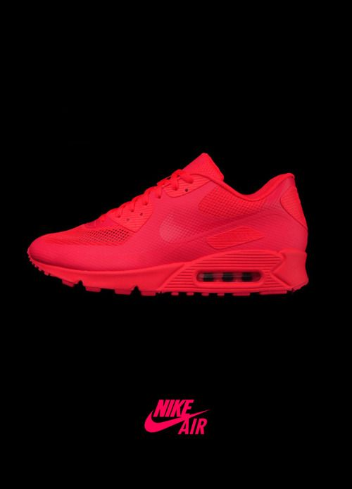 nike air max 90 hyperfuse red bianca