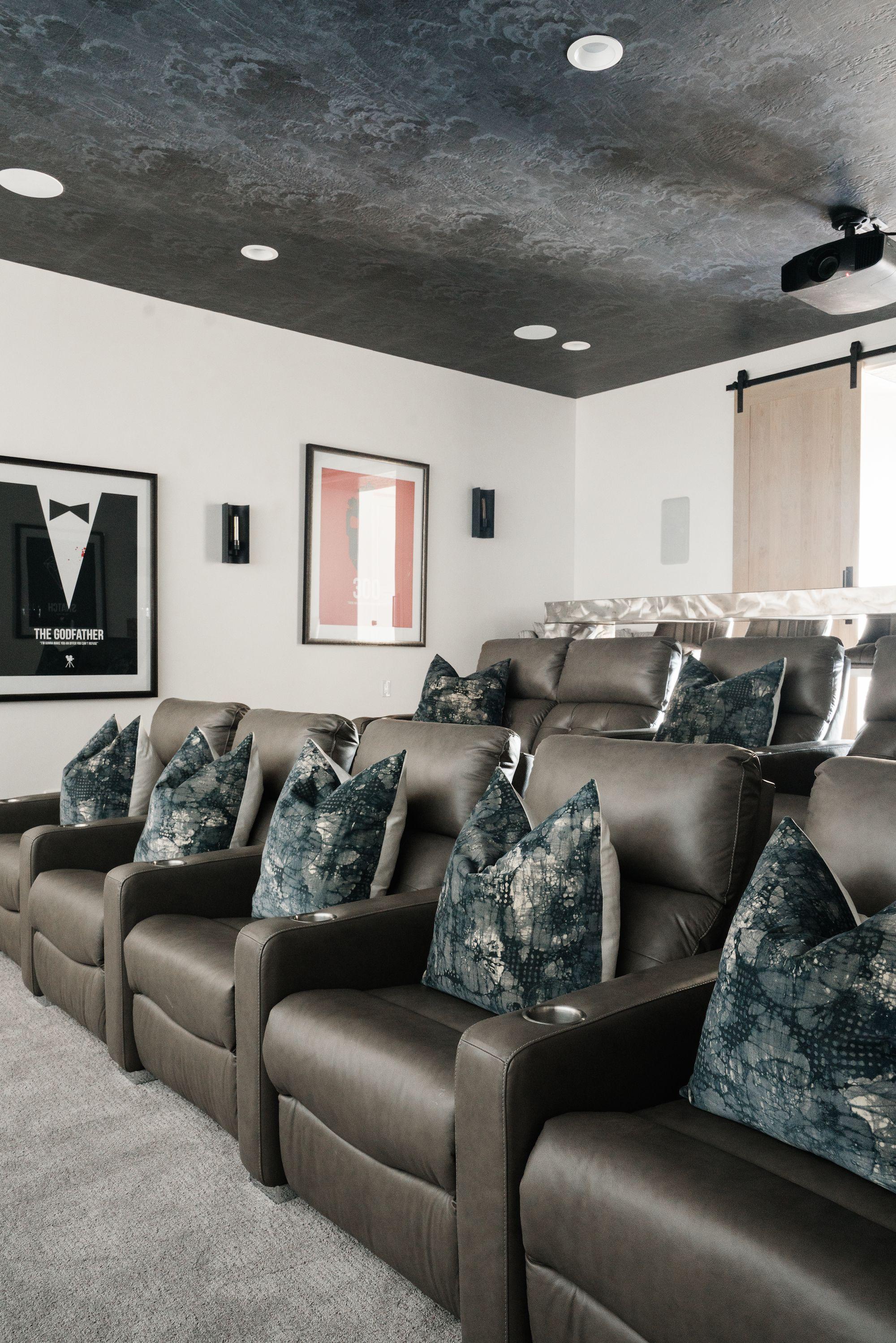 Traverse Mountain Modern Basement Rec Room Kitchen Theater In