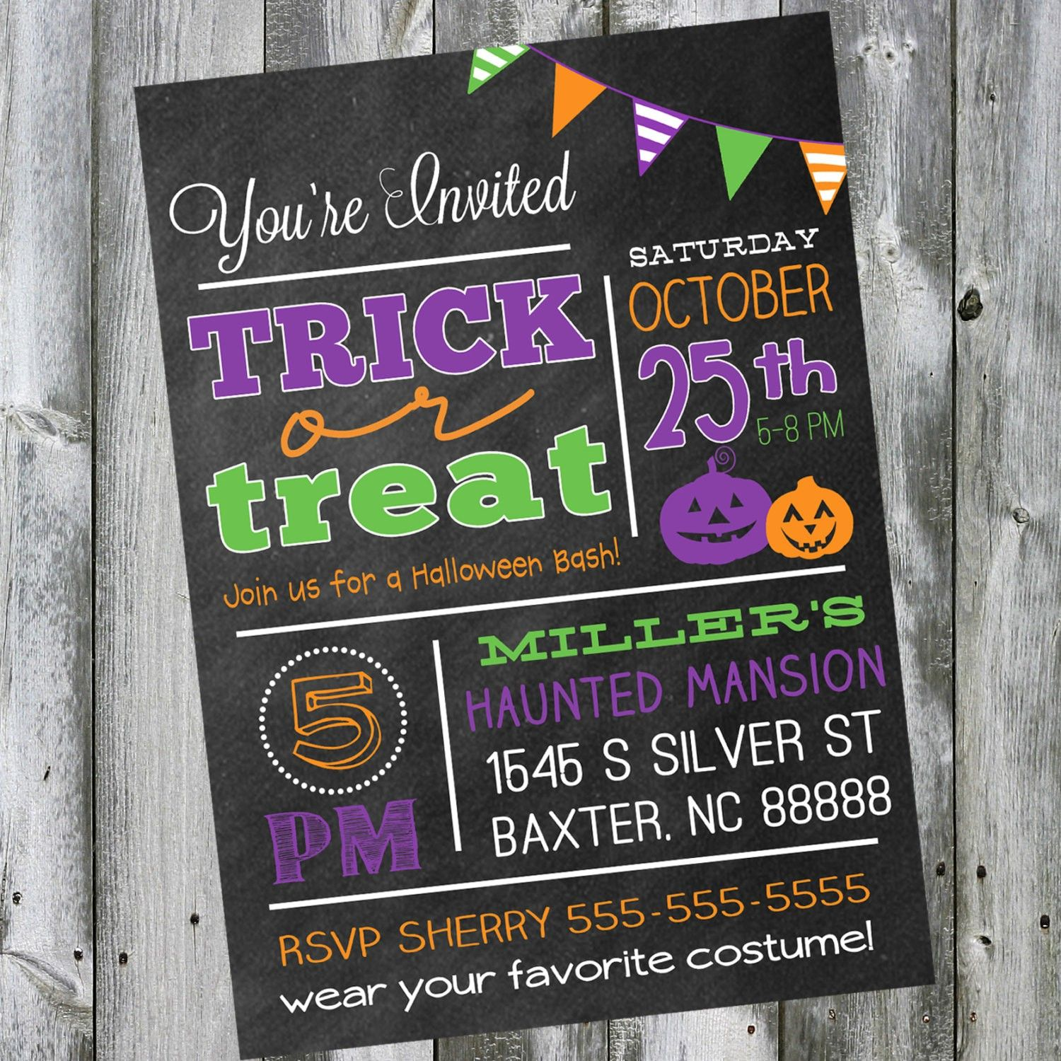 Artistic Halloween Costume Party Invitation christmas card greetings ...