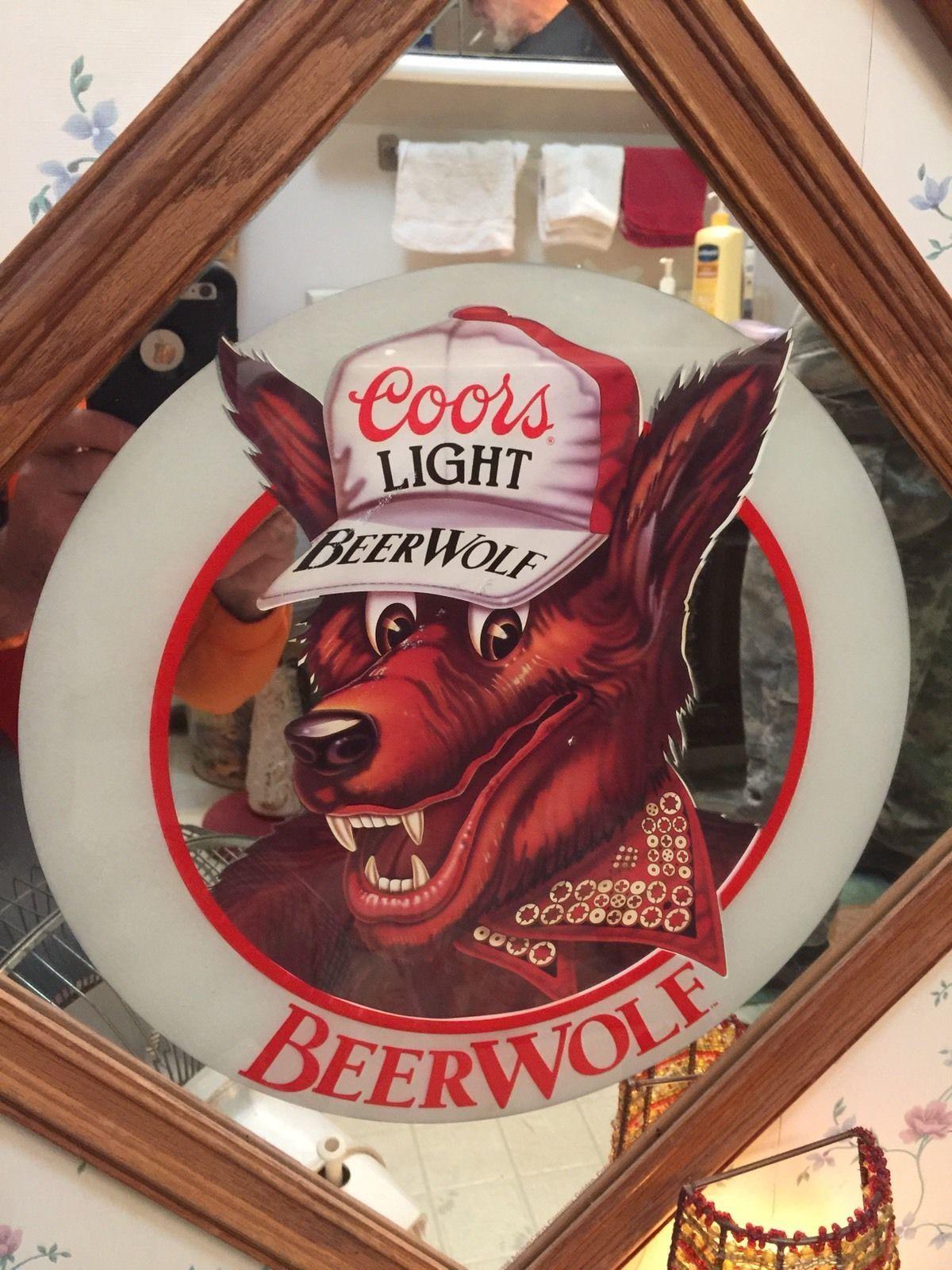Coors light beer wolf beerwolf mirror sign bar pub man cave coors light beer wolf beerwolf mirror sign bar pub man aloadofball Image collections