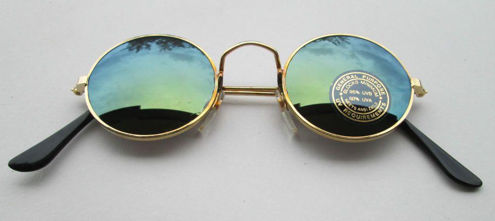 OCCHIALI DA SOLE Stile Retro Vintage 70s Accessori Hippie Goa Tondi  specchio 4 cc86816dfb2a