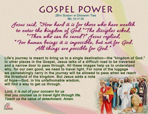 Gospel Power 28th Sunday