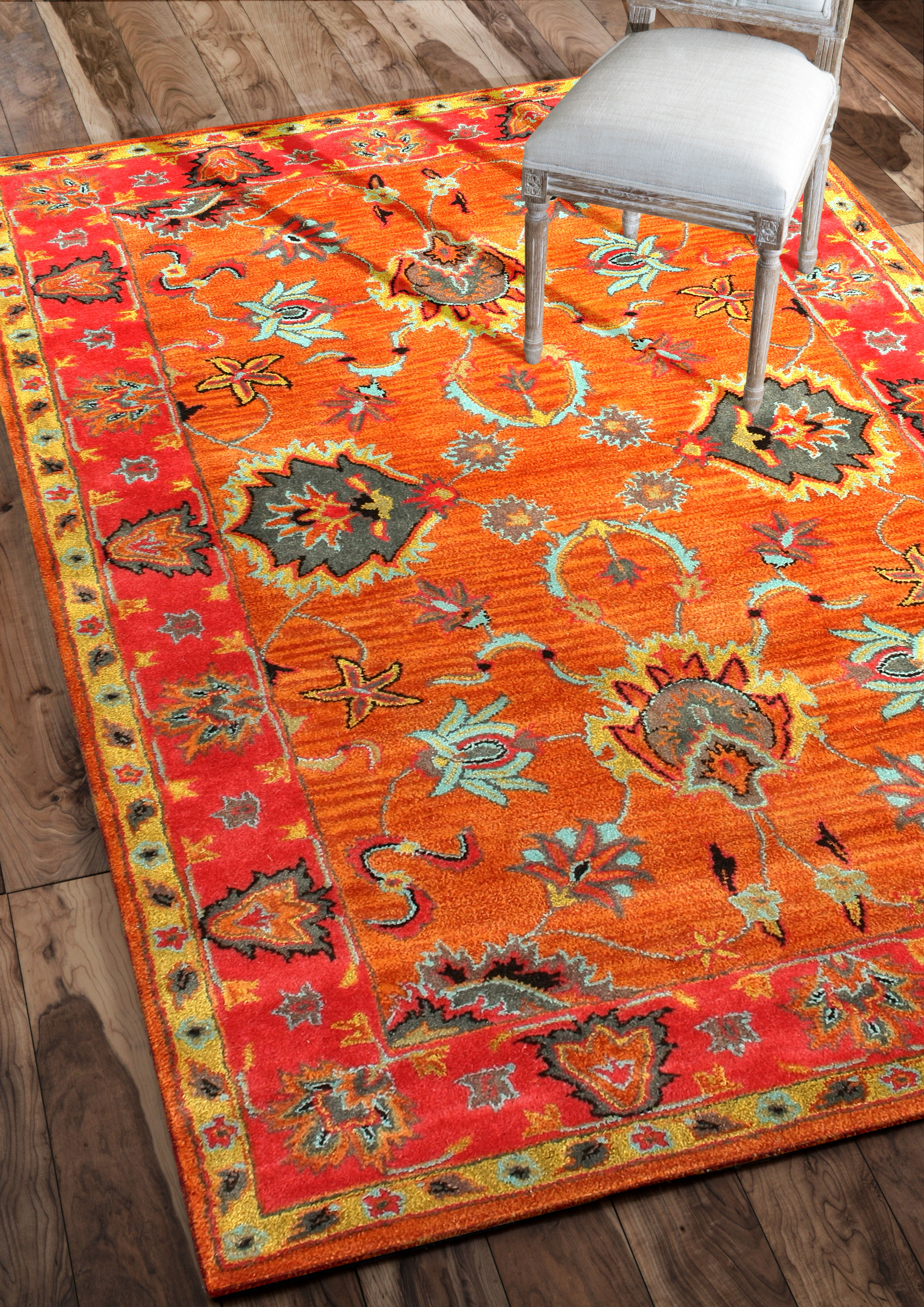 Rugs Usa Overdye Re21 Green Rug Rugs Usa Summer Sale Up To 80 Off Area Rug Carpet Design Style Home Decor Interi Orange Rugs Eclectic Area Rug Rugs Usa