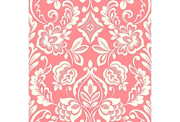 Floral Diamond Damask,  Red on OneKingsLane.com