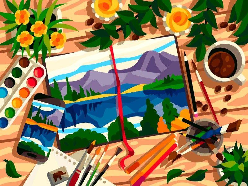 Pin By Shreya Malaviya On Gallery Coloring Book Colorful Art Painting Art Day