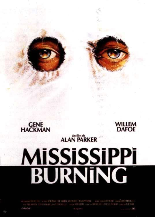 Mississippi Burning Vintage Cinema Poster Alan Parker Movie Czech Cinema