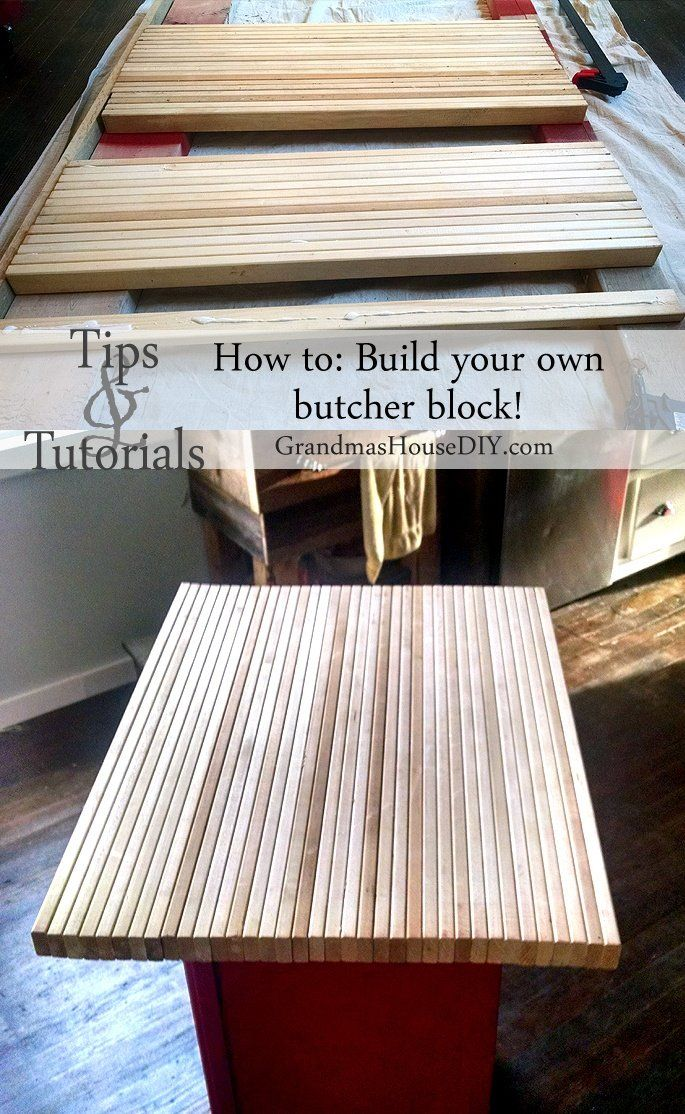 How To: Build Your Own Butcher Block DIY For Your Island