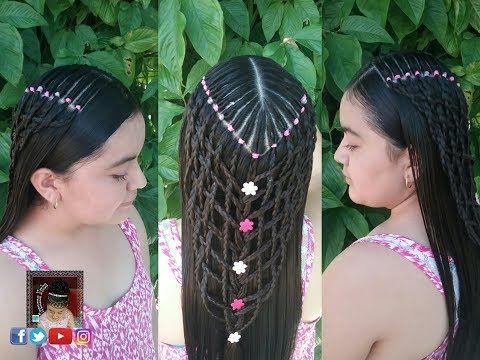 Peinado Con Ligas Y Trenzas Tejidas Perfecto Para Cualquier Edad