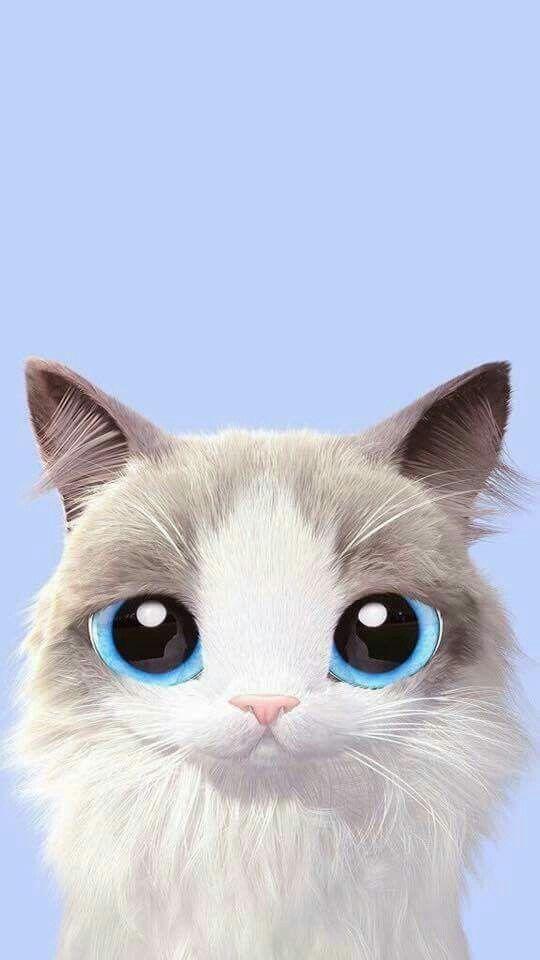 Pin by cintakasih on meow fondos de gato pantalla gatos - Cartoon cat background ...