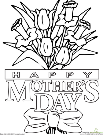 color the mother 39 s day message with images mothers day. Black Bedroom Furniture Sets. Home Design Ideas