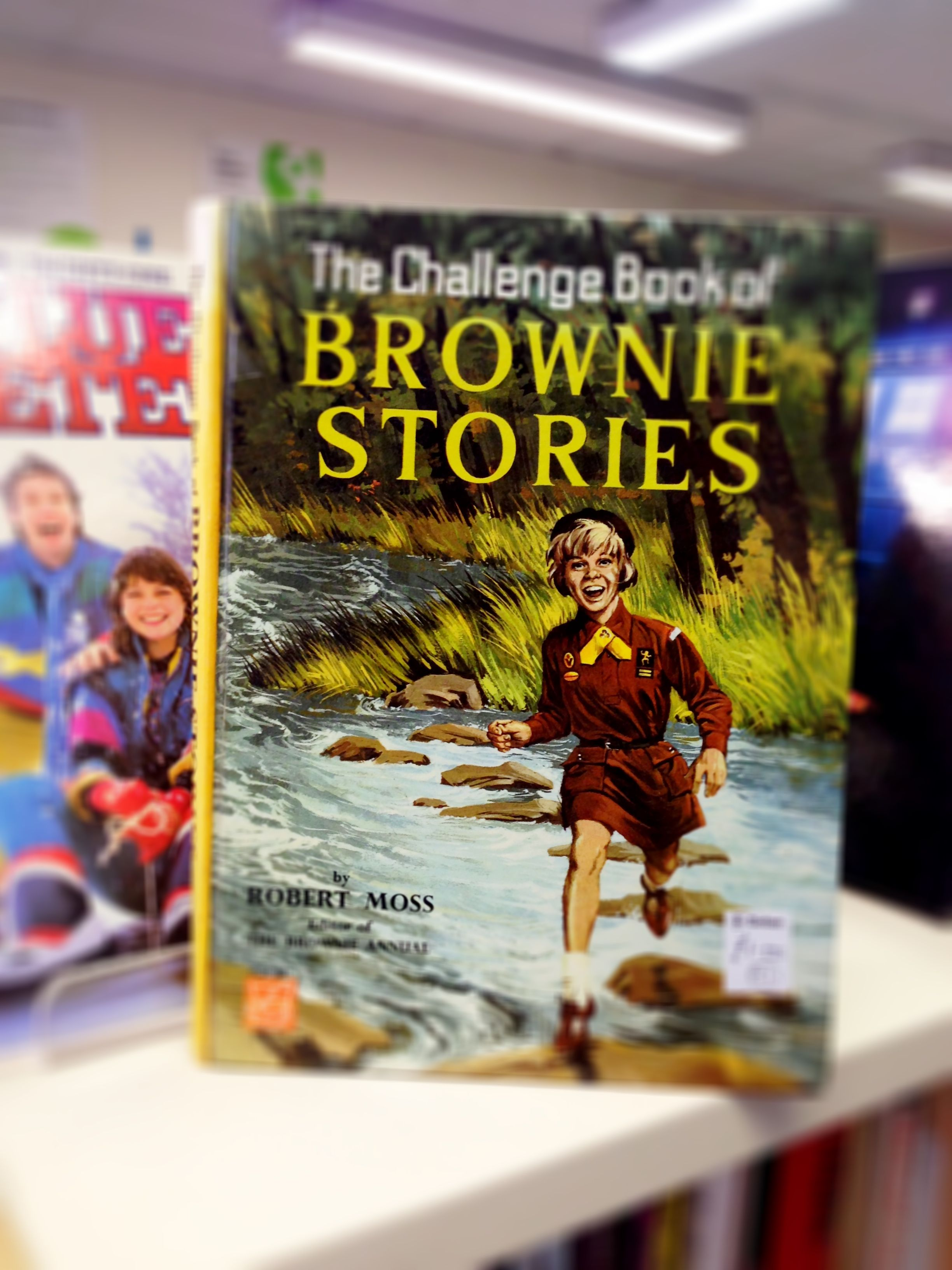 Old Brownie Girl Guide book in charity shop.  I didn't have a great career in the Brownies - oops!