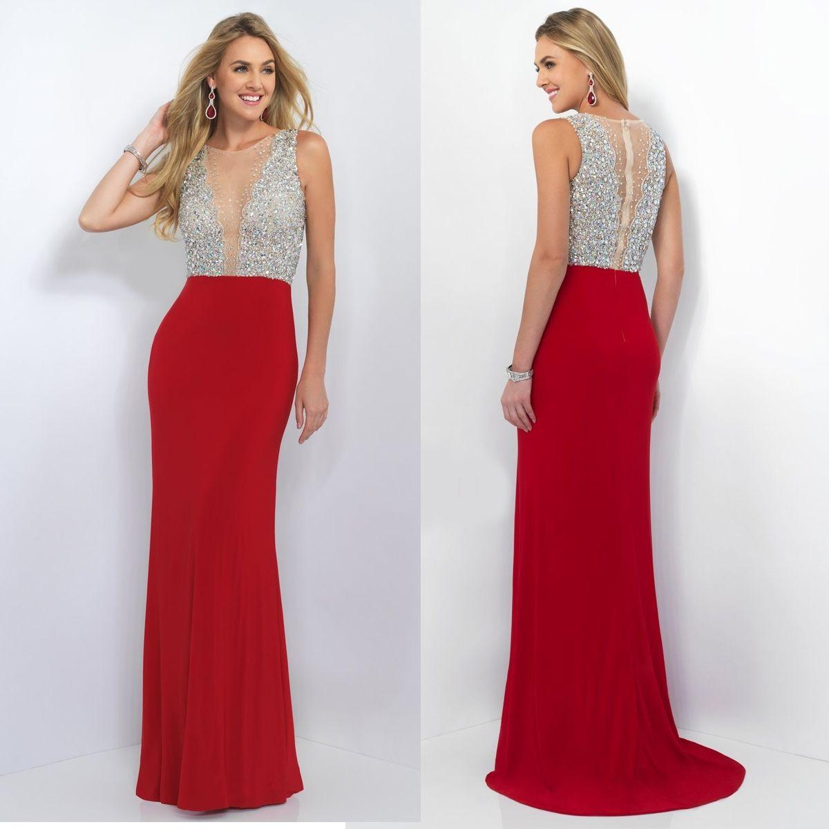 Sheer Beaded Illusion Top Long Prom Dress | Prom 2016 Top Picks ...