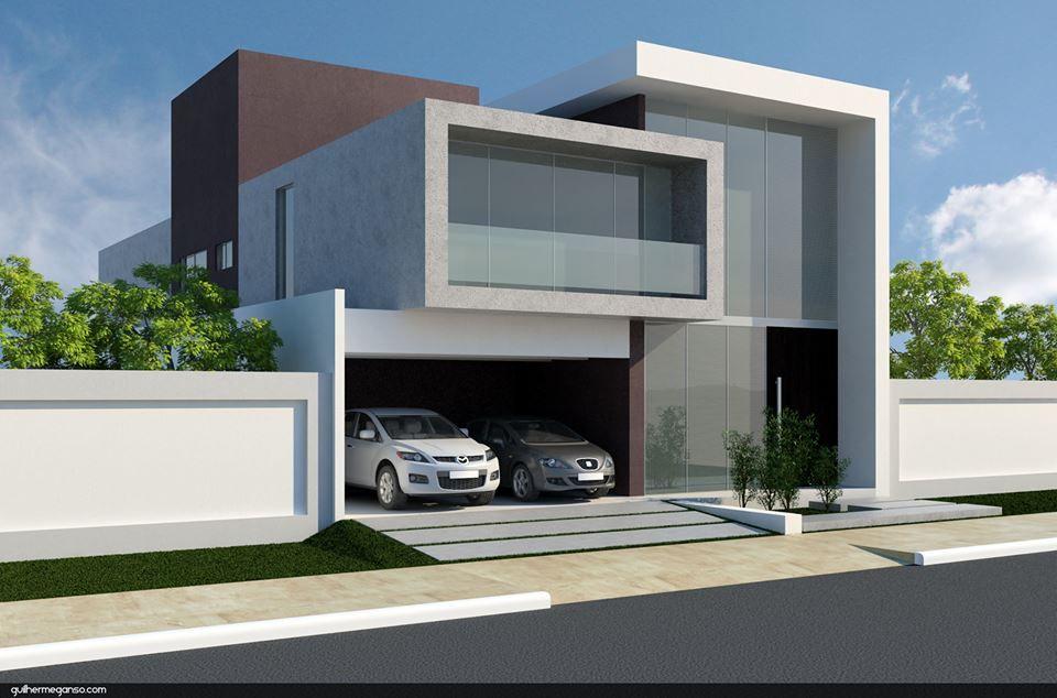 Casa moderna arquitectura pinterest casas modernas for Fachadas exteriores minimalistas