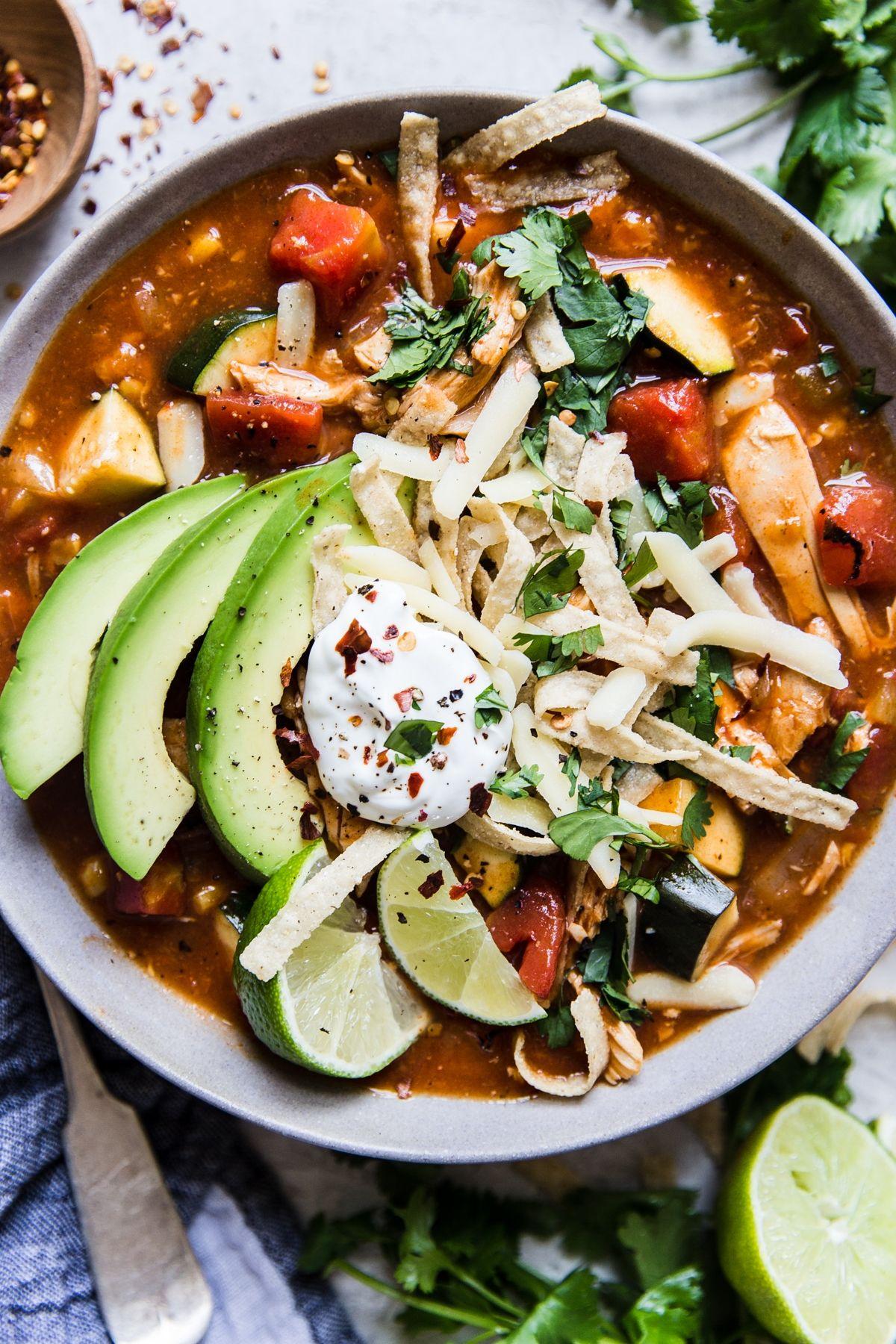 Tortilla Soup #chickentortillasoup