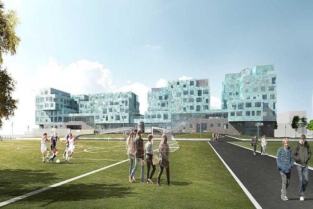 Solar-Powered Campus Charges Copenhagen School - http://www.psfk.com/2015/06/solar-powered-campus-copenhagen-international-school-denmark-cis-north-harbour.html