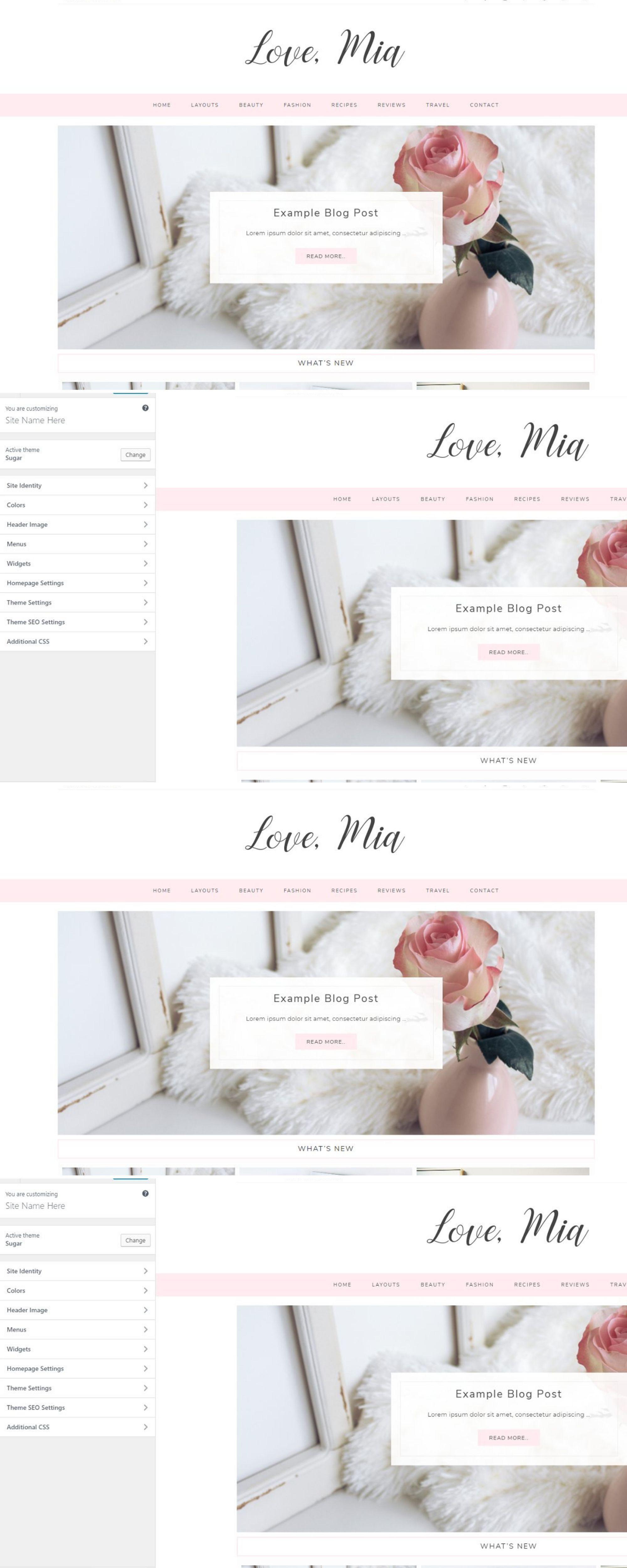 Mia Wordpress Theme UI Inspiration Pink Ui
