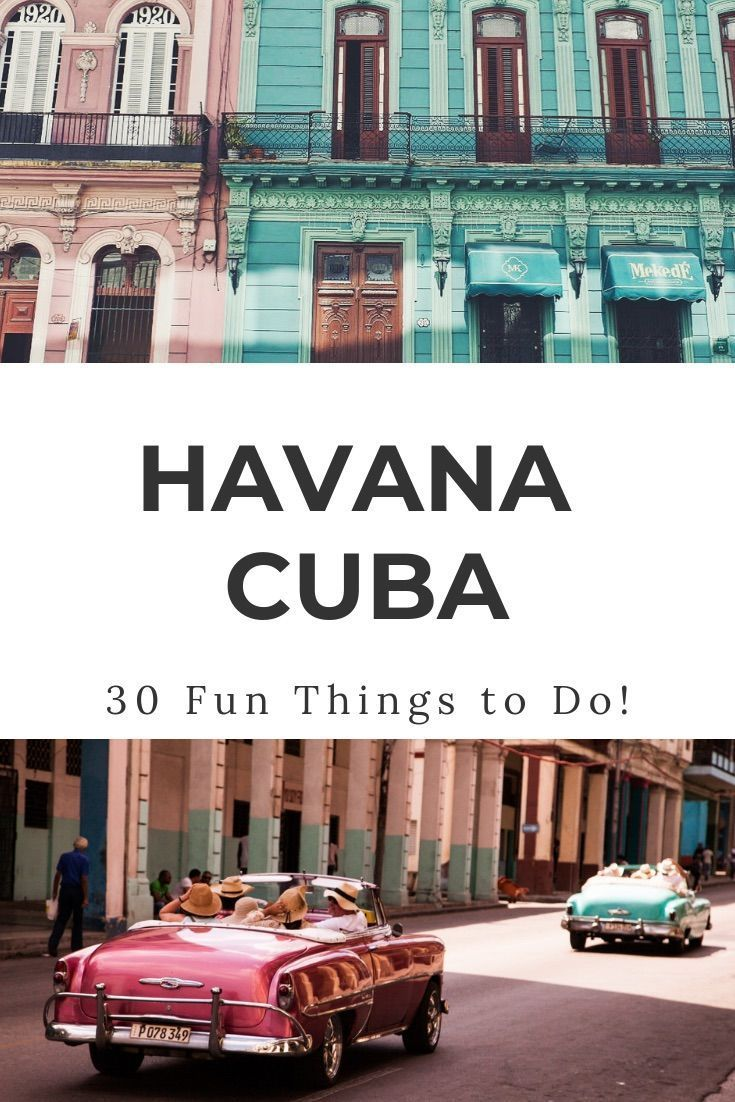 Havana Cuba Things to Do | 30 awesome things to do in Havana Cuba from colonial architecture to classic cars and ancient forts. Best Havana Cuba attractions, what to do in Havana Cuba, Havana Cuba tours, Havana Cuba activities, Havana Cuba travel | #havanacuba #cubatravel