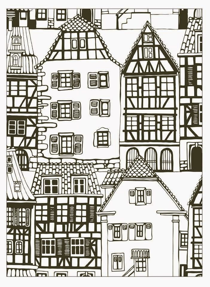 Free coloring page coloring-house-style-alsace-france. coloring ...