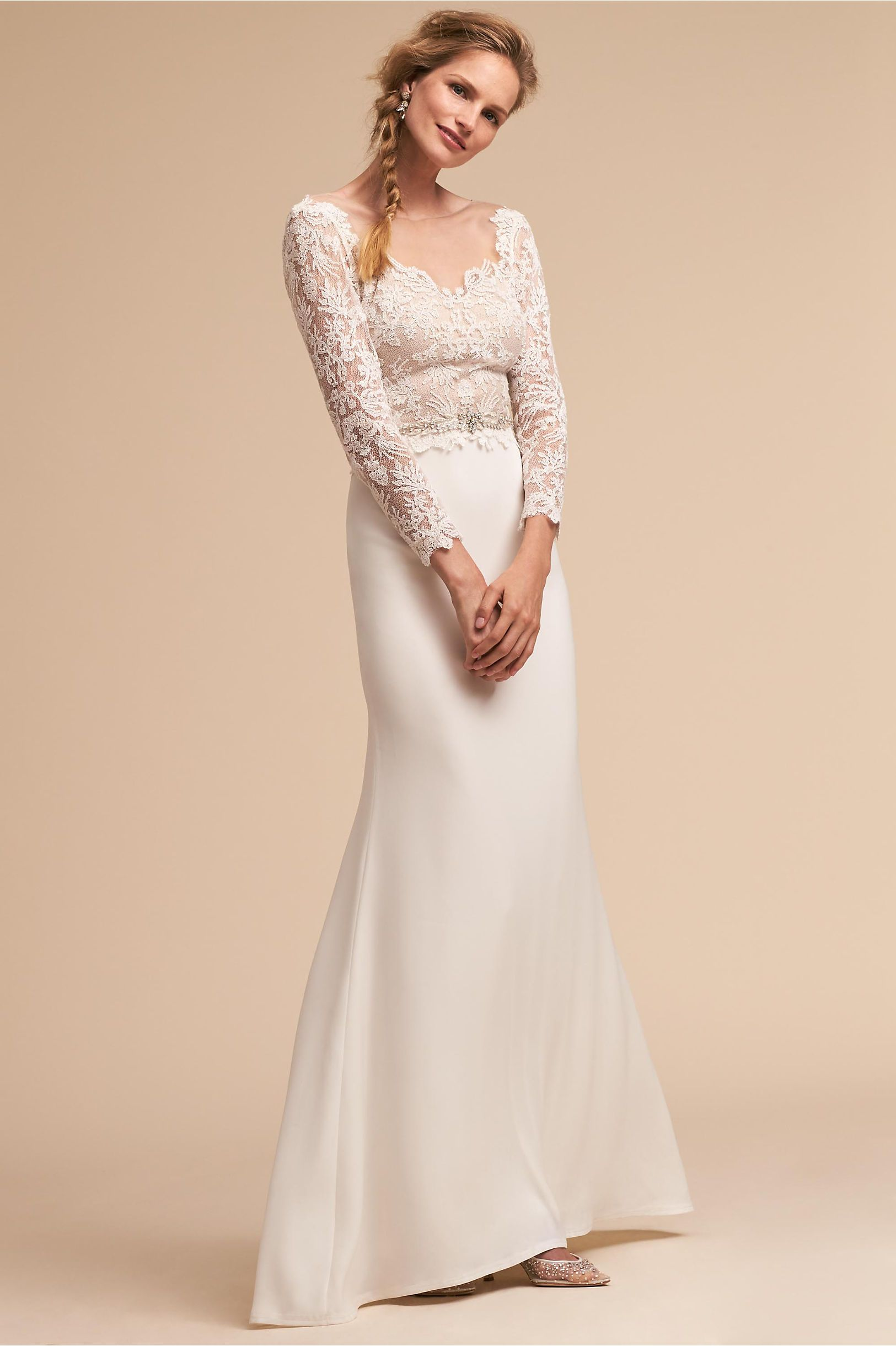 BHLDN\'s Tadashi Shoji Langston Gown in Ivory | Products | Pinterest ...