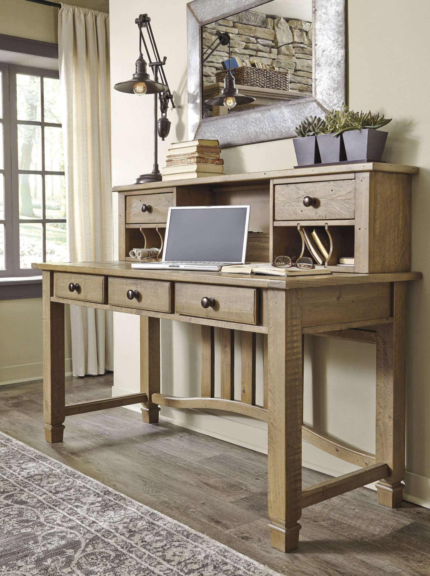 15 wonderful light wood home office furniture collection