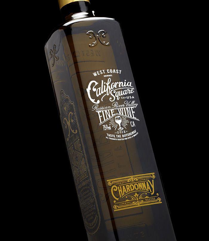 California Square #wine #bottle #design