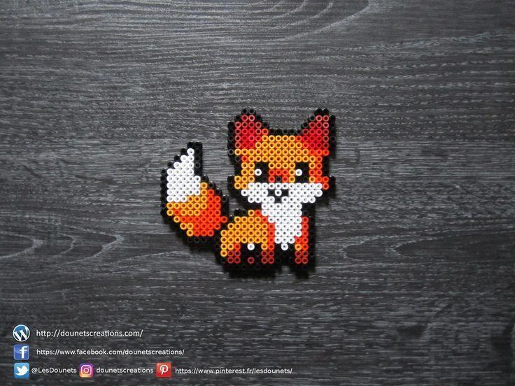 Renard Kawaii Perles Hama / Kawaii Fox Perler Beads - ... -