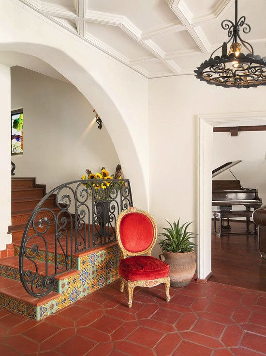 Saltillo Tile Floors Spanish Revival Design Pictures