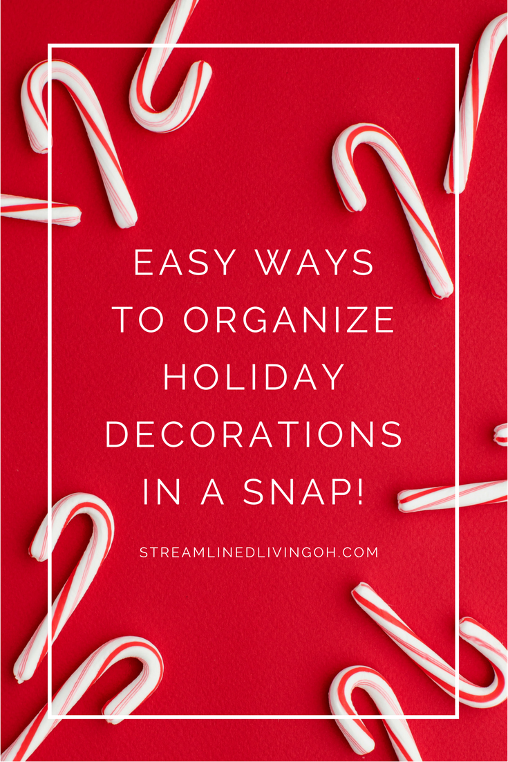 After the holiday fun is over, putting away christimas and other holiday decorations can be such a chore!  Bit it doesn't have to be that way!  Learn how to get all of the Christmas decorations organized in a snap!