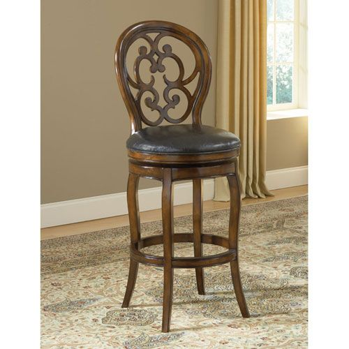 alexandra dark tobacco swivel bar stool hillsdale furniture bar height 28 to 36 inch