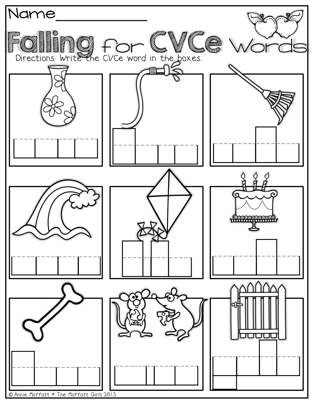 The Moffatt Girls: Fall Math and Literacy Packet (1st