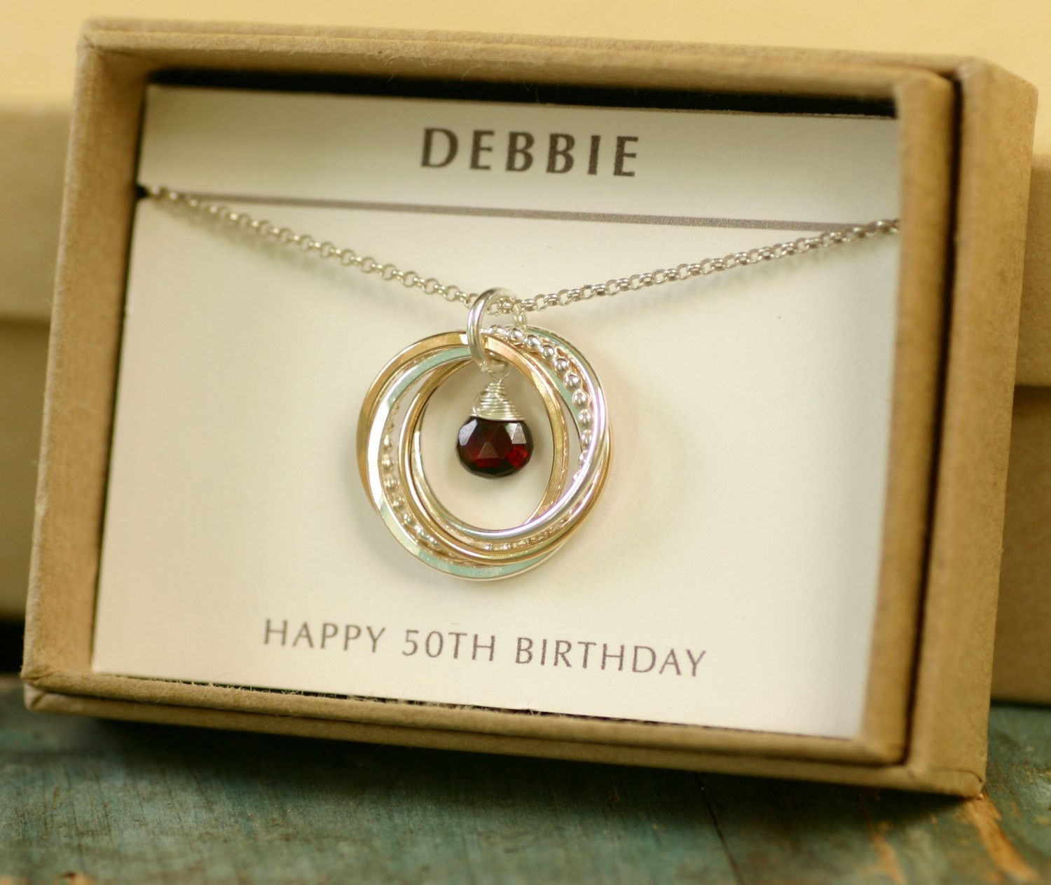 Gifts for 50th Birthday Unique Necklace for Her