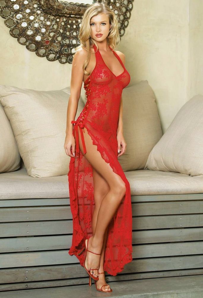 27ab58f316d Leg Avenue Spanish Rose Lace Long Dress £41.99 Sexy Long Gown negligee dress  with lace details. www.townoftoys.co.uk