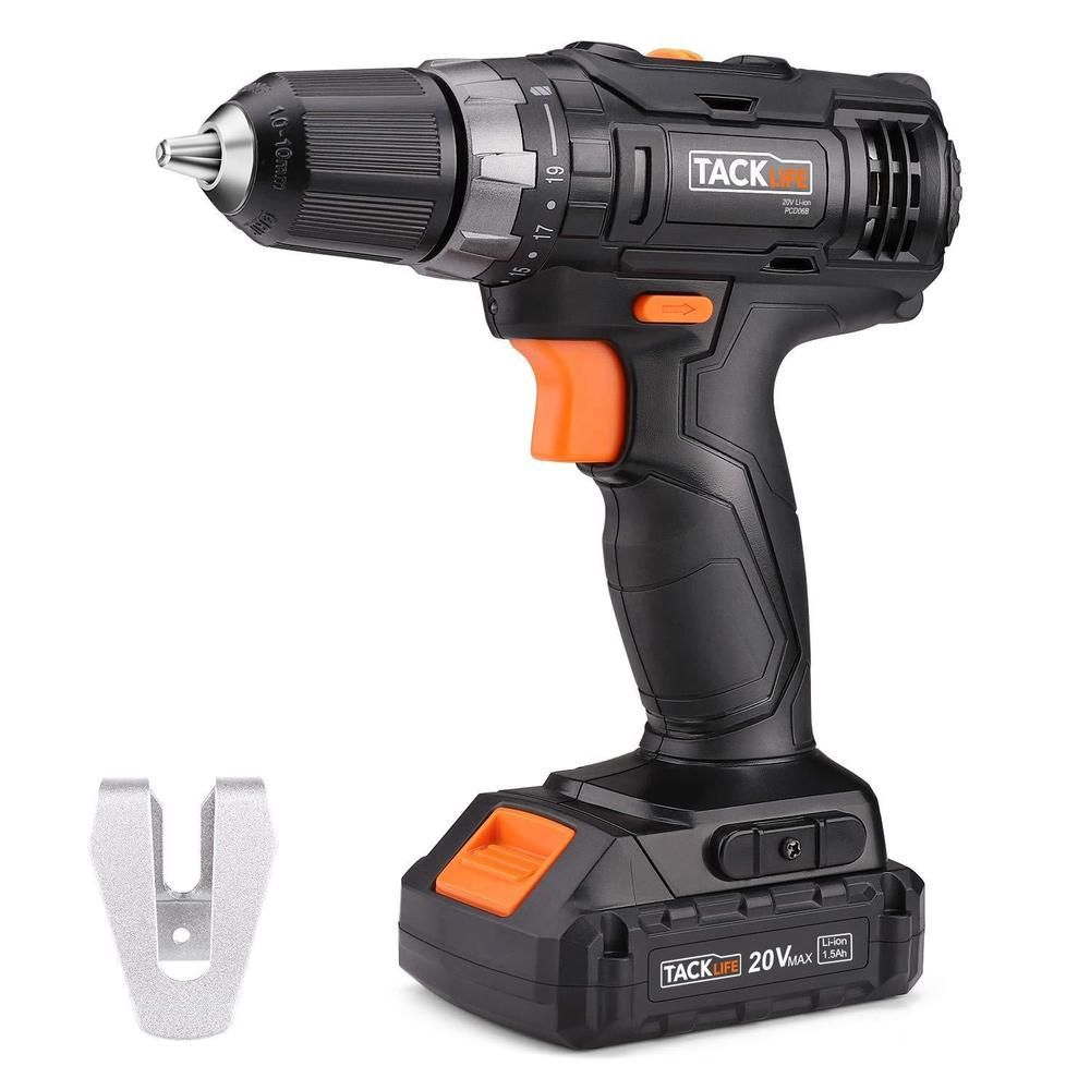 Tacklife Pcd06b 20v 3 8 Cordless Drill Driver Set With Hammer Function 2 Speed Tacklife Cordless Drill Drill Driver Drill
