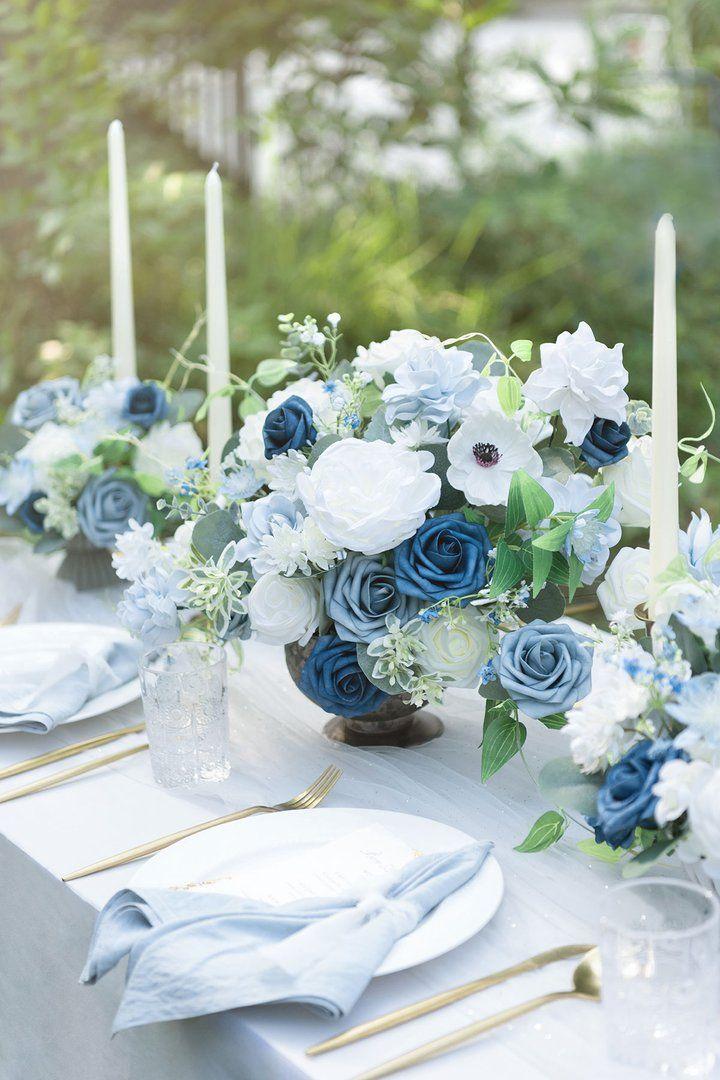 Deluxe dusty blue flowers box set 11 styles in 2020