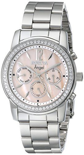Invicta Women's 11769 Angel Pink Mother-Of-Pearl Dial Cubic Zirconia Accented Stainless Steel Watch Invicta http://www.amazon.com/dp/B007HNDLBS/ref=cm_sw_r_pi_dp_WlLHub0RX881Q
