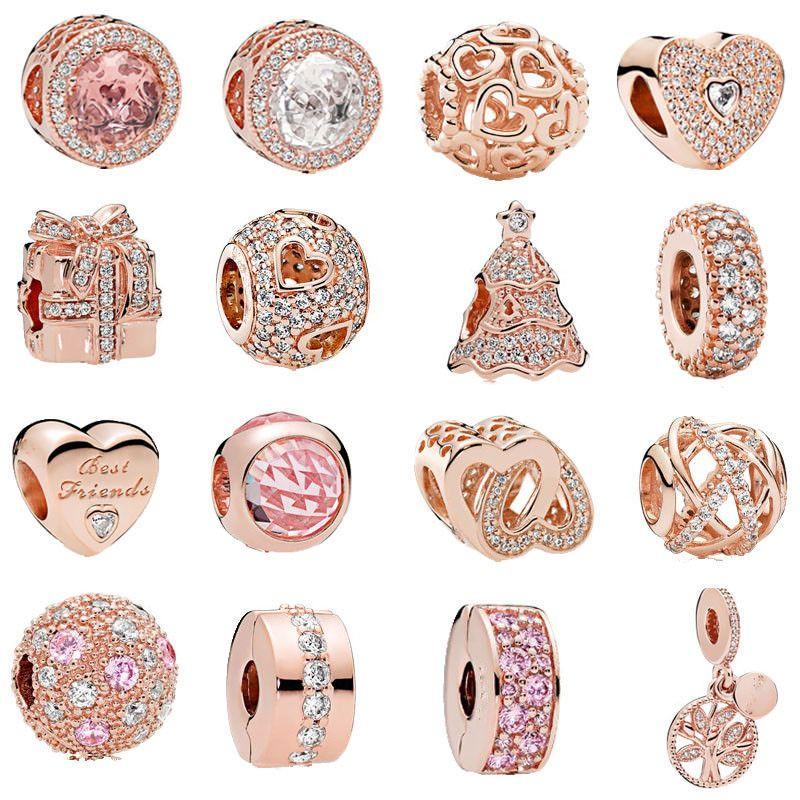 pandora charms rose gold ebay