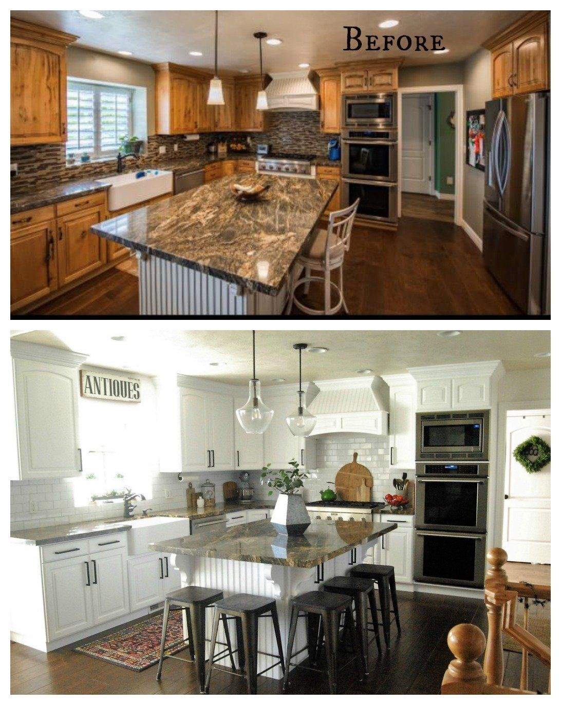 27 Inspiring Kitchen Makeovers Before and After