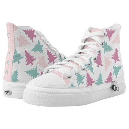 cute summer tropical faux gold pineapple pattern High-Top sneakers - patterns pattern special unique design gift idea diy