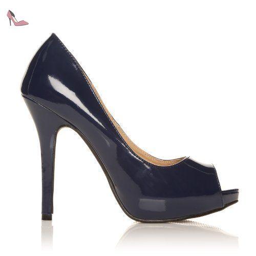 Chaussures à talon aiguille à bout ouvert Shuwish UK bleues femme 49RBneK2