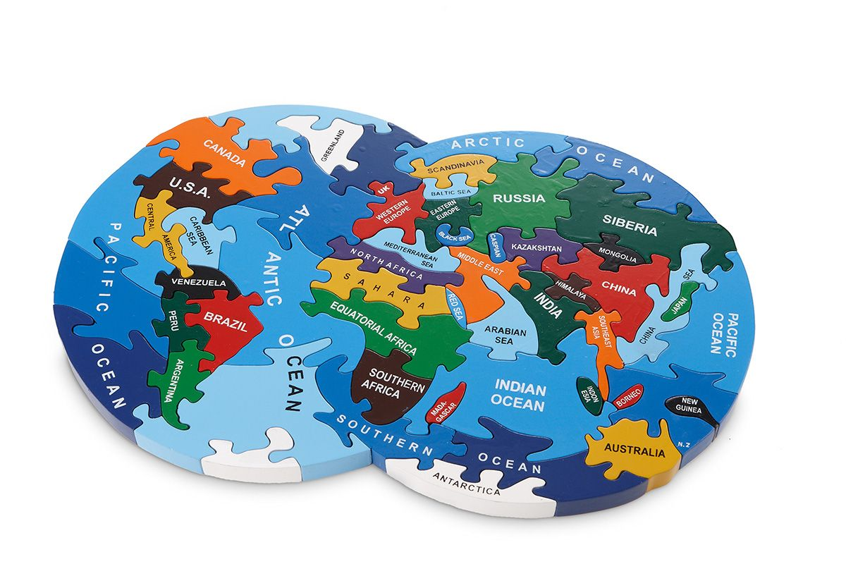 Map of the world made from robust wood by wood like to play a handmade world map puzzle inlcudes free cotton storage bag great fun for all of the family adults and children love playing with this jigsaw gumiabroncs Gallery