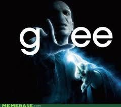 Lol if only Voldemort would've watched Glee he wouldn't try to kill Harry Potter all the time!