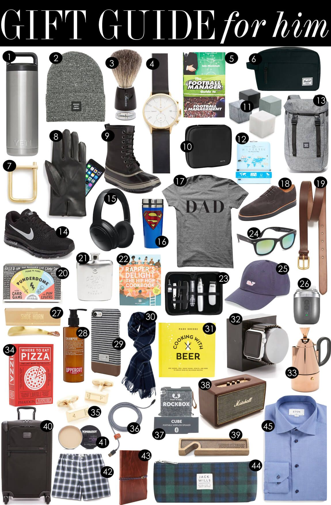 Gift Guide For Him Kiki S List Gift Guide For Him Bday Gifts