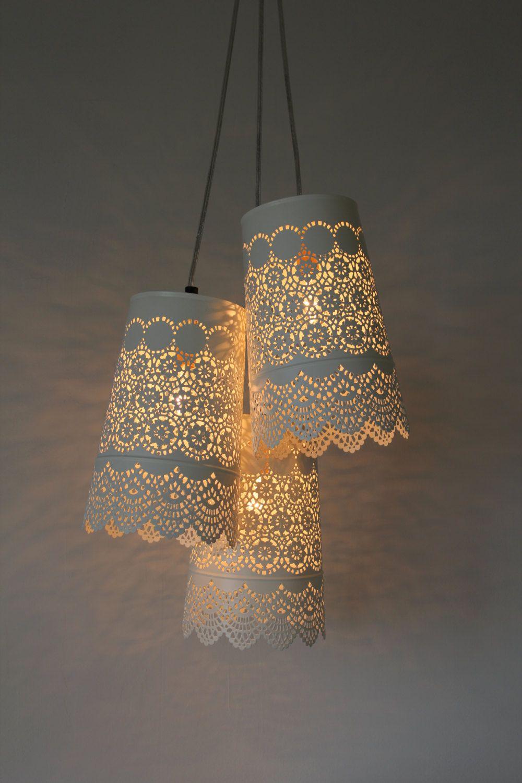 Babyus breath chandelier upcycled hanging pendant lighting fixture