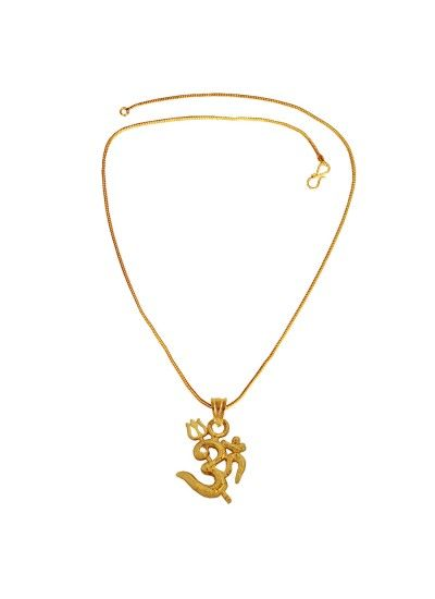 Menjewell Spiritual Collection Gold Plated Om With Trishul