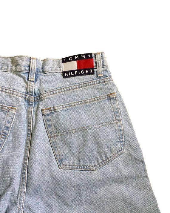086bcedbf 90s Tommy Hilfiger Jeans Logo Flag Patch Vintage Dad Denim | Rose ...