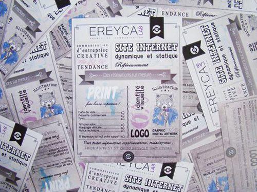 #FLYERS  // 20x15 cm (A5) // papier 250g couché mat pour Ereyca Lab.